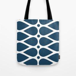 Geometric teardrop teal pattern Tote Bag