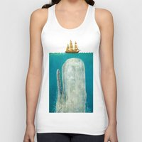 new york skyline Tank Tops featuring The Whale  by Terry Fan