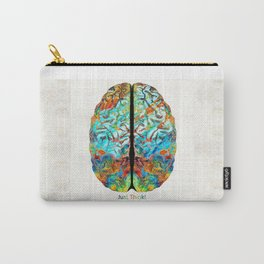 Colorful Brain Art - Just Think - By Sharon Cummings Carry-All Pouch