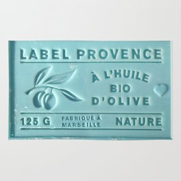 blue french marseille soap Rug
