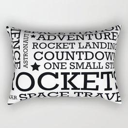 Space Text inspirational poster. Rectangular Pillow