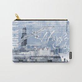 Harbor City Hamburg Germany mixed media Art Carry-All Pouch