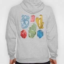 Crystals and Minerals Pattern Hoody