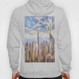 New York Manhattan Skyline Art Hoody
