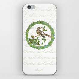 Winter Finch holiday wreath iPhone Skin