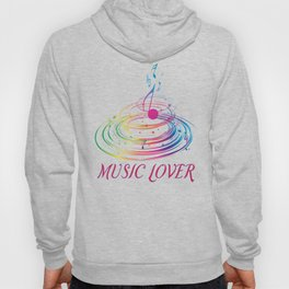 Music Themed T Shirts Colorful Graphic Hoody
