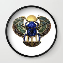Painted Egyptian Necklace Wall Clock