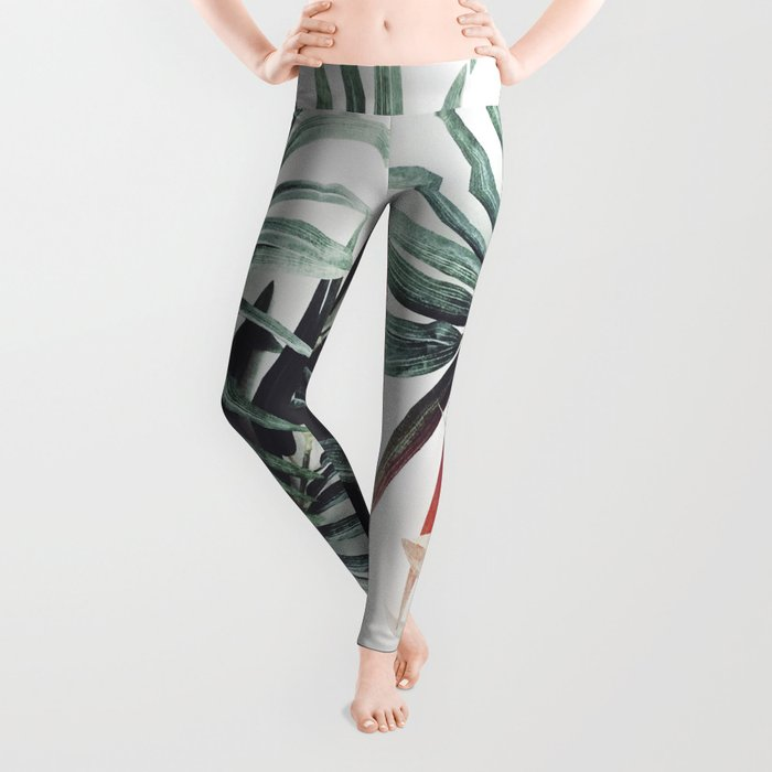 Vintage plants Leggings