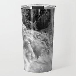 Black and White Beautiful Waterfall Travel Mug