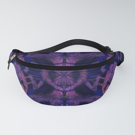 Curves & lotuses, abstract pattern, ultra-violet Fanny Pack