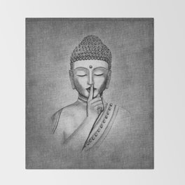 Shh... Do not disturb - Buddha Throw Blanket