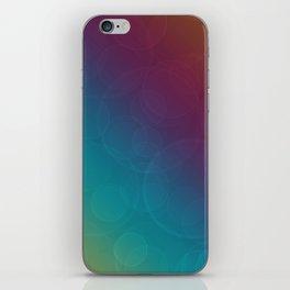 Bohek Bubbles on Rainbow of Color Illustration iPhone Skin