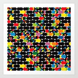 DOTS - polka 1 Art Print