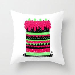 The cake Throw Pillow