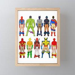 Superhero Butts Framed Mini Art Print