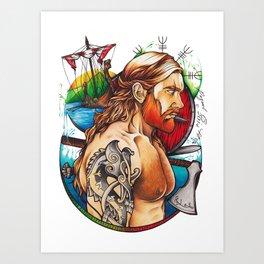 Viking warrior Art Print