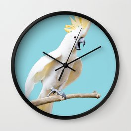 Cockatoo photograph | Cockateil digital art Wall Clock