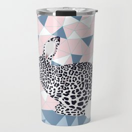 Cute Rabbit Leopard Pattern Design Travel Mug