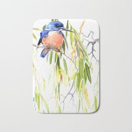 KIngfisher and Weeping Willow Bath Mat