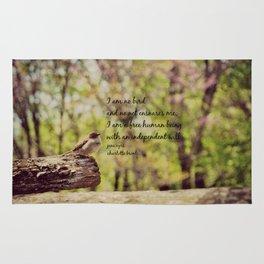 I Am No Bird Jane Eyre Charlotte Bronte Quote Rug