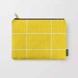 Yellow White Grid Carry-All Pouch