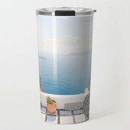View on Santorini island Travel Mug
