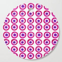 Evil Eye Amulet Talisman in Pink Cutting Board