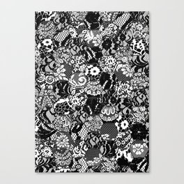 gothic lace Canvas Print