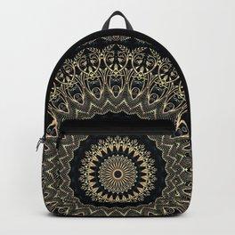 Gold Filigree Mandala Backpack