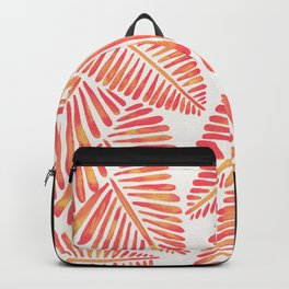 Tropical Banana Leaves – Pink & Peach Ombré Palette Backpack