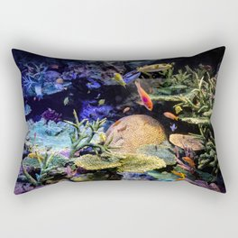 Brain Coral and Bright Colours Rectangular Pillow