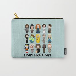 Kokeshis Fight like a girl Carry-All Pouch