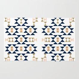Jacs - Modern pattern design in aztec themed pattern navajo print textile cute trendy girl Rug