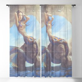 Mexican Mermaid Sheer Curtain