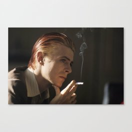 Smokin' Bowie Canvas Print