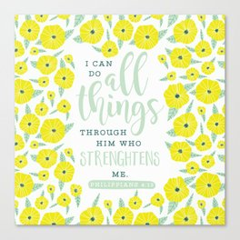 I Can Do All Things Canvas Print