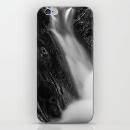 Shelving Rock Stream - Black & White iPhone Skin