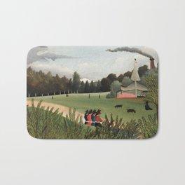 Landscape and Four Young Girls, Henri Rousseau, 1895 Bath Mat