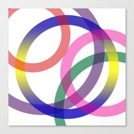 Abstract Circles No 2 Canvas Print