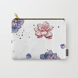 Succulents seamless pattern Carry-All Pouch