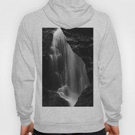Black and white waterfall long exposure Hoody
