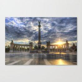 Heroes Square Budapest Sunrise Canvas Print