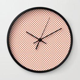 Firecracker Polka Dots Wall Clock