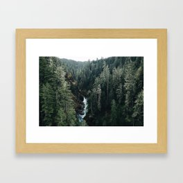 The View From High Steel Framed Art Print