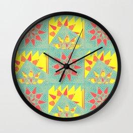 Geometric star mandala inspired pattern aka star-flake Wall Clock
