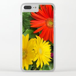 Colorful Daisies Clear iPhone Case