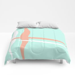 Turquoise & Coral (2) Comforters