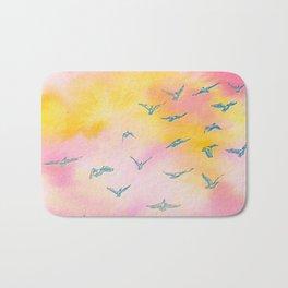 Sunset Birds Bath Mat