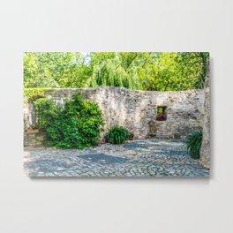 Old Castle Wall Metal Print