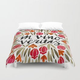 In Wine, There is Truth – Red Duvet Cover